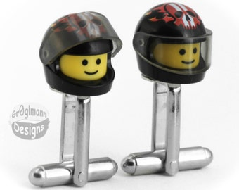 Racer Cufflinks - made with LEGO