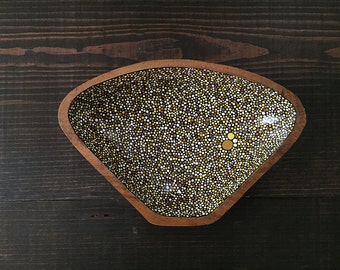 Triangle Dish : Yellow Dots