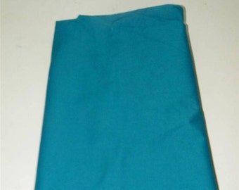 Teal Cotton 1 1/3 Yards 86 Inches Wide Fabric 11385