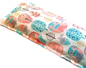 4 Sizes - Hot Cold Packs, FLAXSEED, Microwave Heating Pad, Ice Packs, No Sections - Owls