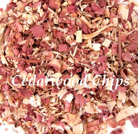 Cedar Wood Chips ~ Cedar wood chips shavings moth insect organic by
