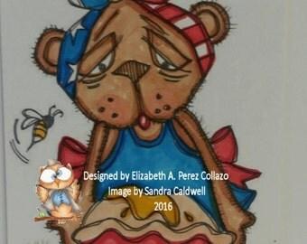 773 Bearly Honey Pie Digi Stamp