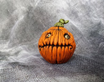 OOaK Walleye Jack Pumpkin Halloween Sculpture