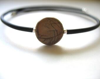 Copper Mountain Jasper Bracelet, Jasper Stone Cuff Bracelet , Handmade Gemstone Bracelet