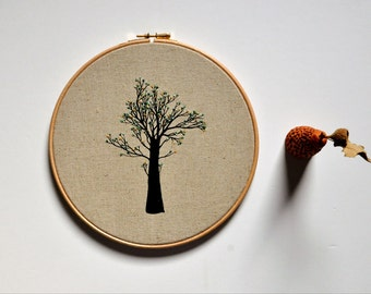 embroidery hoop art - The Healing Tree I
