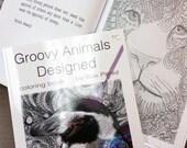 adult Coloring book Zentangle Animal Designs original 8.5 x 11