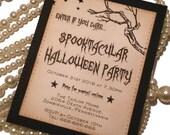 Halloween Invitations - Custom Listing