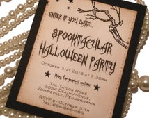 Halloween Invitations, Halloween Party, Party Invites, Free Gift, Spooky Invitations, Spooktacular, Halloween Tags, Halloween Favors