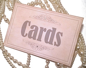 Cards Sign, Vintage Wedding, Grey Cards Sign, Matching Table Numbers, UK wedding, Table Numbers