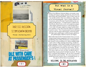 Mixed Media Explorations full color Workbook Download, Visual Journaling with Juliana Coles