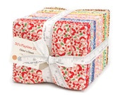 SALE fabric, 30's Playtime ENTIRE LINE Precut fabric, 30's reproduction fabric by Chloe's Closet for Moda Fabrics- Fat Quarter Bundle of 40
