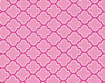 Cotton Fabric by the Yard, Moroccan Tile, True Colors fabric, Quilt fabric, Pink fabric, Trellis in Pink by Joel Dewberry, Choose your cut