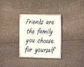Friendship Quote, Rustic Calligraphy Signage, Home Decor Sign, Wood Friend Plaque, Distressed Country Cottage Chic, Family Verse, Sawdusted