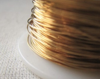 Wire Jewelers Brass 26 Gauge Gold Jewelry Wire Item No. 8586