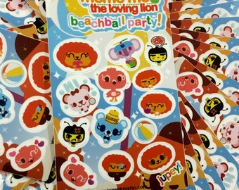 Memo Me BeachBall Party Sticker Sheet