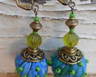 Blue Fruit earrings