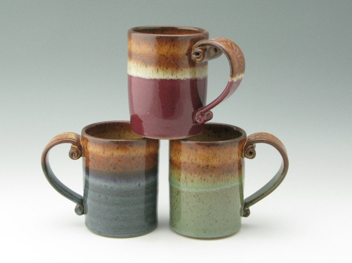 Stoneware Coffee Mug 16 Oz Cafe Style Soup Mug By