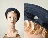 30% OFF Vintage Sailor Hat --- 1960s Navy Hat