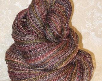 Handspun Yarn - Blueface Leicester Wool, Silk