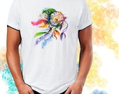 Dreamcatcher Watercolor Art Print T-Shirt Youth and Adult Sizes