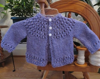 Alpaca Baby Sweater Hand Dyed Purple