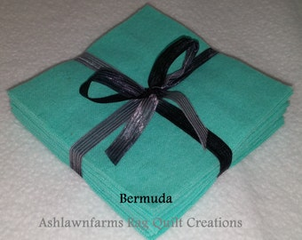 Solid BERMUDA GREEN, FLANNEL Fabric Squares, Rag Quilt, Traditional Quilting, pick size & quantity, We Cut You Sew