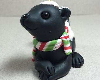 Skunk Ornament by Shelly Schwartz