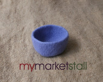 Periwinkle Felted Mohair Bowl - In Stock - Ready to Ship