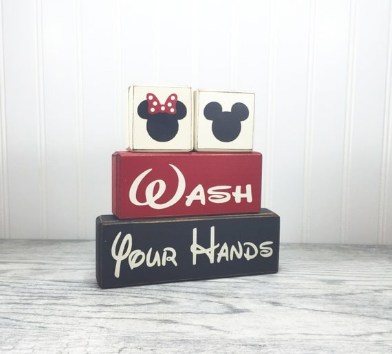 mickey mouse minnie mouse bathroom decor kids bath wash behind your