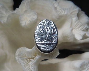 Beautiful Galena Mirror Ring Size 7.75