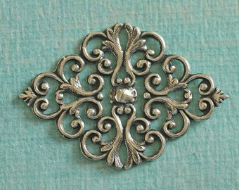 Silver Filigree Finding 2782