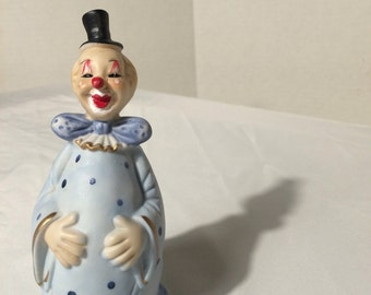 Vintage Clown figurine bell 1970s
