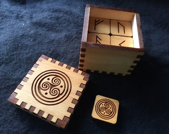 Celtic Waves  Futhark Rune Cube