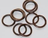 20 pcs of Antique copper Zinc alloy rings 15mm, zinc alloy circle links , Antique copper plated connector
