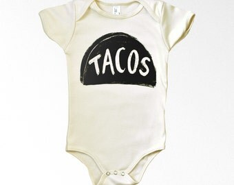 Taco Tuesday Organic Cotton Baby Bodysuit - father's day onesie  - new baby gift for dad - baby shower - organic baby clothes one piece
