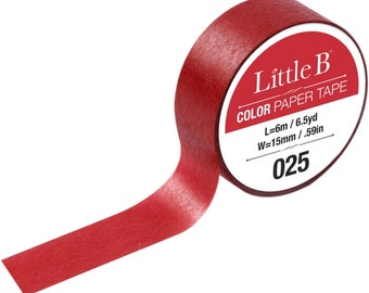 Cadmium Red Deep Washi Tape 025 • Little B Solid Color Tape 15mmx6m (100912)
