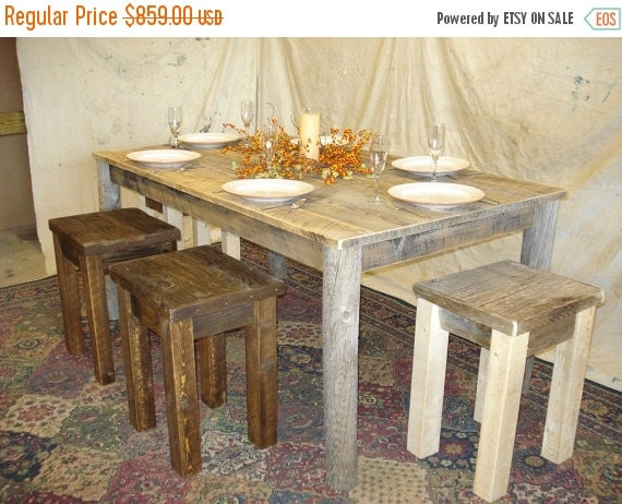 Driftwood furniture farmhouse dining room by for 65 farmhouse table
