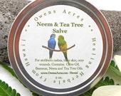 Neem and Tea Tree Salve -  Antiseptic Salve, Skin Rash, Itchy Skin, Skin Problems, Salve, Herbal Salve, Skin Salve, Handmade