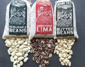Jalama Valley Beans 3 one pound bags of christmas limas, russian beans, butterbeans
