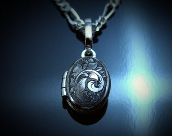 Hand Engraved Sterling Silver Micro Locket
