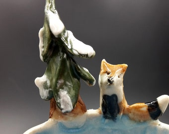 Fox in the Forest Trinket bowl