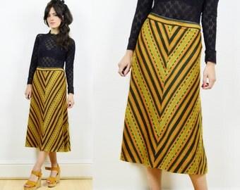 70s A line skirt, boho skirt, hippie skirt, retro skirt, 70s boho skirt, vintage hippie skirt, bohemian skirt