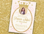 Princess Birthday Invitation - Printable PDF