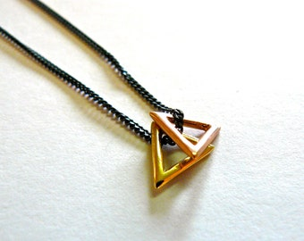 Golden Triangles Necklace