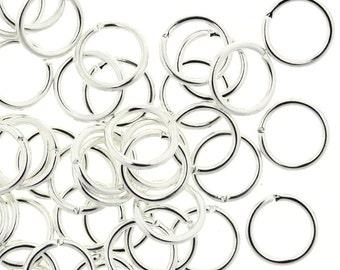 Jump Ring Silver 8mm 18ga Plated Jump Rings (100) FI855