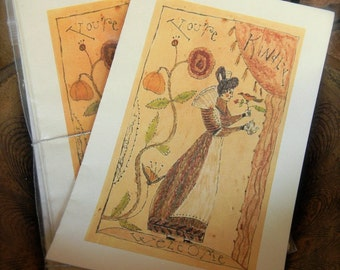 Kindly Welcome - LIMITED EDITION FOlk Art Notecards - from Notforgotten Farm™