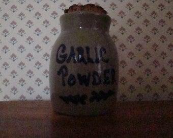 Beaumont Brothers Pottery (BBP) Stoneware GARLIC POWDER Spice Jar