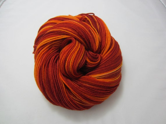 From the Flames - Dyed to Order - Hand Dyed - Merino Wool Yarn - Fingering Weight