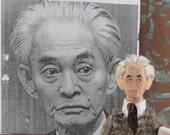 Japanese Author-  Yasunari Kawabata-  Nobel Prize Winner- Art Doll in Miniature