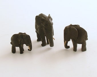 Vintage Miniature Elephant Figurines